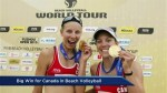 Big win for Canadian beach volleyball team