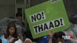 Anti-THAAD missile system protest held in Seoul, South Korea