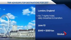 Trip Advisor names the world's top destinations for 2017