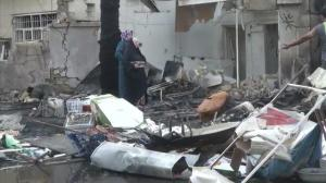 Raw video: Aftermath of car bombing in Baghdad