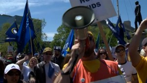 Striking teachers rally at Queen's Park