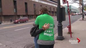 Man fined for giving free hugs in the Montreal Metro