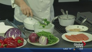 In the Global Edmonton kitchen with Fresh Fit Foods