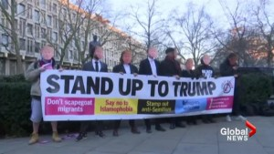 Trump protests in UK ahead of inauguration