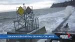 Tsawwassen seawall collapses, exposing homes