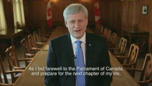 Former prime minister Stephen Harper announces he's resigning his seat in the House of Commons