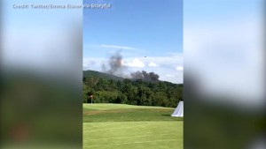 Virginia State police helicopter crashes near Charlottesville golf course