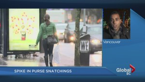 Spike in purse snatchings in Downtown Vancouver