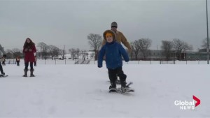 Canadian newcomers experience popular winter activities in Halifax