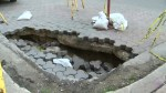 'This whole area is questionable': City of Winnipeg investigates sinkhole on Albert Street