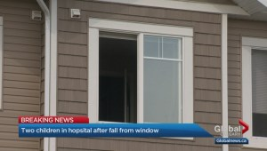 Two children in hospital after falling from third-storey window of Calgary home
