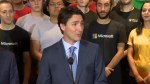 Trudeau helps unveil Microsoft's state of the art innovation centre in Vancouver