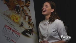 Rebecca Ferguson had to overcome fear to film latest 'Mission Impossible'