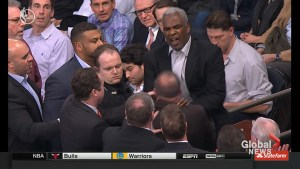 Former Knick and Raptor Charles Oakley dragged away and arrested after court side altercation