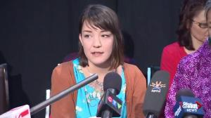 Sister of Loretta Saunders makes statement on behalf of family