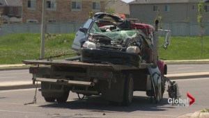Policing investigating after deadly early morning crash in Brampton