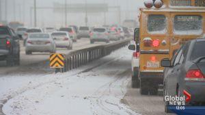 Calgary snow creates treacherous road conditions