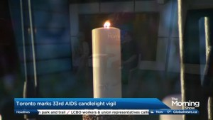 Toronto marks the 33rd annual AIDS Candlelight Vigil