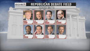 Tight race to make top 10 for first Republican presidential candidate debate