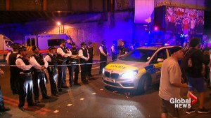 Video captures scene in London, England where a vehicle reportedly rammed several worshippers leaving a mosque