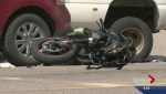 Man in life-threatening collision after motorcycle collision