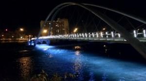 'Skipping stone' bridge opens in Calgary