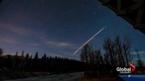 Calgary treated to light show