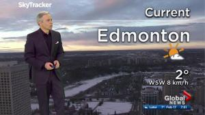 Edmonton and area weather forecast: Friday, February 17, 2017