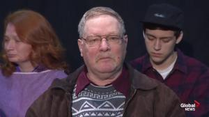 Loretta Saunders' father breaks down during press conference
