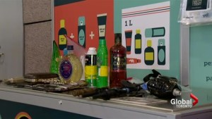 The most unique items confiscated at Toronto's Pearson International Airport on display