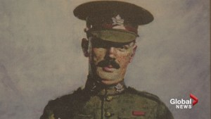Tribute held for Calgary war hero who gave his life for his son in First World War