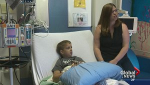 Young Edmonton blood recipient shares story online