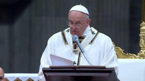 Pope Francis leads Christmas Mass at the Vatican