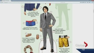 Global Calgary's Morning News laughs at Jordan Witzel paper doll