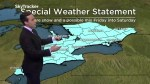 Squalls continue battering Ontario; stormy weekend up next
