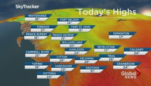 BC Evening Weather Forecast: Aug 27