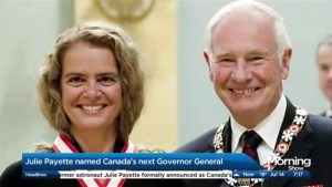 Julie Payette chosen as Canada's new Governor General