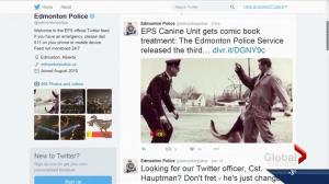 Edmonton and Calgary police agencies on Twitter