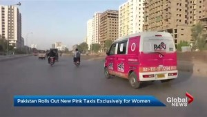 Pink taxis offer safe rides for women in Karachi