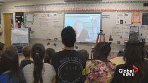 'I thought it was a dream': Jon Bon Jovi makes virtual visit to Lethbridge elementary school