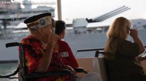 Veterans of Pearl Harbour attack tour the battle site, 75 years later