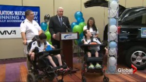 A family from Sudbury, with twin boys with cerebal palsy win their dream vehicle