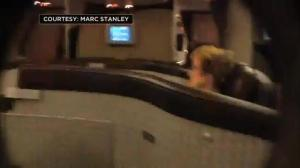Raw video: Passengers on American Airlines flight battered by heavy turbulence