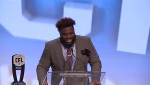 Calgary Stampeders Derek Dennis named CFL's Most Outstanding Offensive Lineman