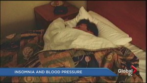 Chronic insomnia linked to high blood pressure