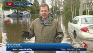 Rivière des Prairies spills over, parts of Pierrefonds-Roxboro flooded