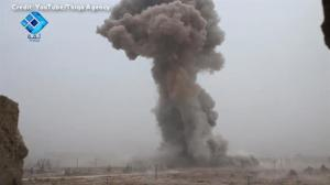 Alleged use of suicide bomber by Syrian rebels captured on camera by local activists
