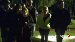 Vigil Held in Blairmore, Alberta