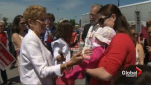 "Wynne calls Hudak's plans ""dangerous"" for kids"