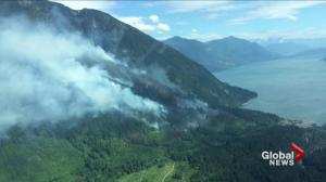 Firefighters battling two human-caused fires in B.C.